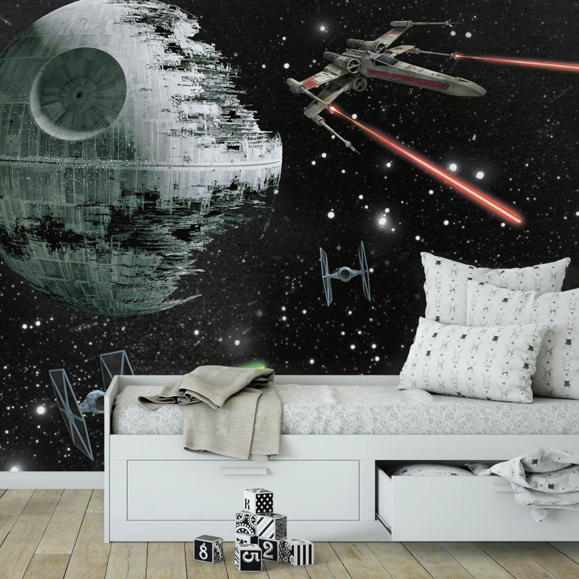 STAR WARS VEHICLES XL MURAL ROOMSETTING
