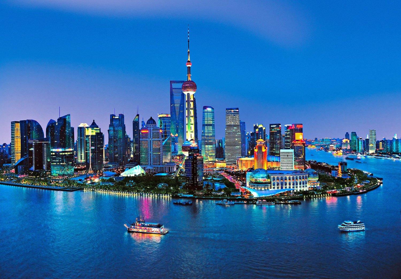 Shanghai Skyline Wall Mural Dm135 Full Size Large Wall Murals The