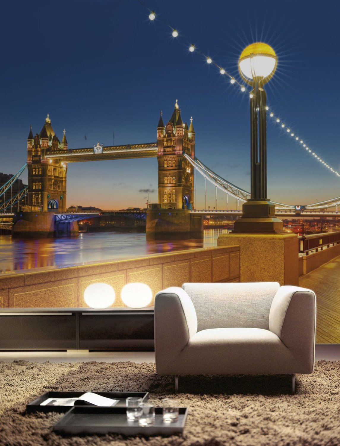 Tower Bridge Wall Mural 8-927 roomsetting