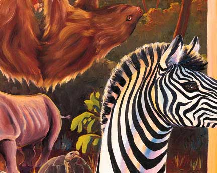 Animal Diversity Wall Mural Detailed
