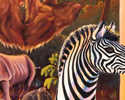 Animal Diversity Wall Mural Detailed