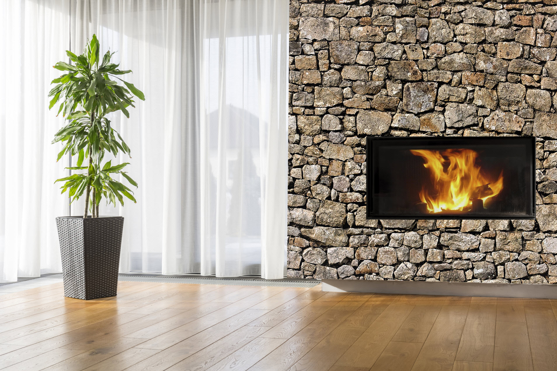 Old Stone Wall Peel Amp Stick Canvas Wall Mural Full Size