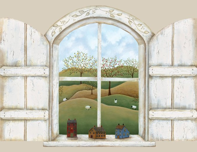 A Homestead Window Mural 252-59124
