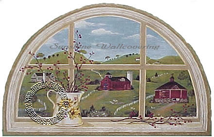 Country Window Mural 7007-444M