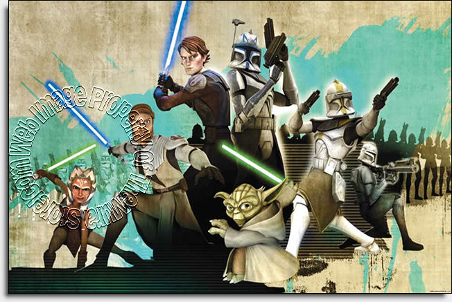 Star Wars The Clone Wars JL1216M Wall Mural by Roommates