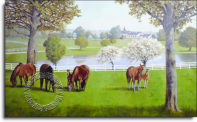 Lexington Horse Farm Mural RA0197M