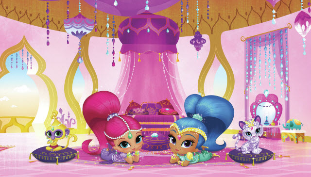 SHIMMER SHINE GENIE PALACE MURAL