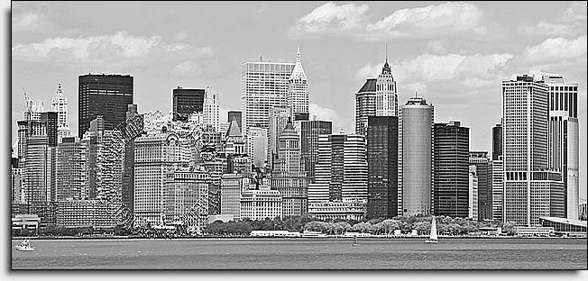 NYC Panoramic Black White Self Adhesive Wall Murals The Mural Store