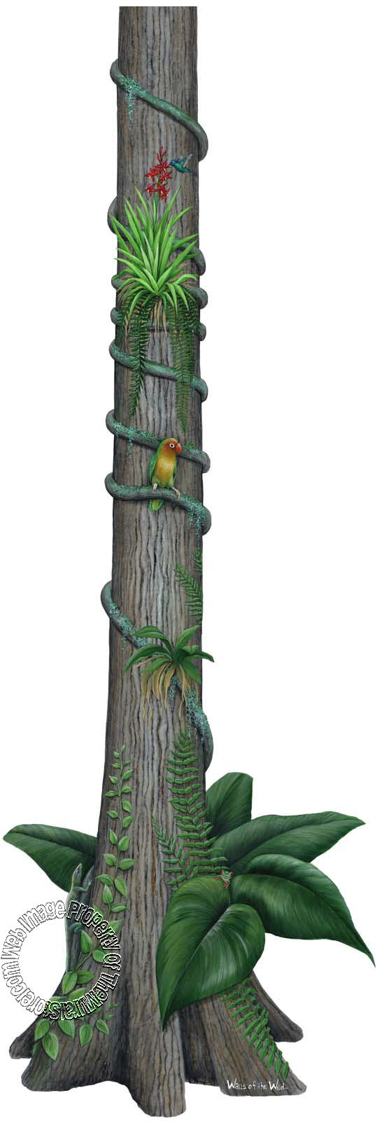 Rainforest Tree Peel & Stick Applique 180109