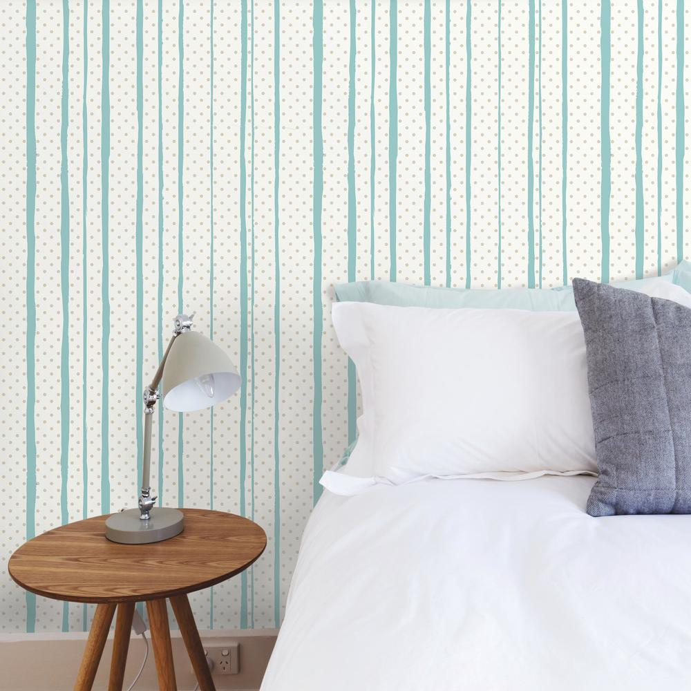 ALL MIXED UP SILVER/TEAL PEEL & STICK WALLPAPER  Peel And ...