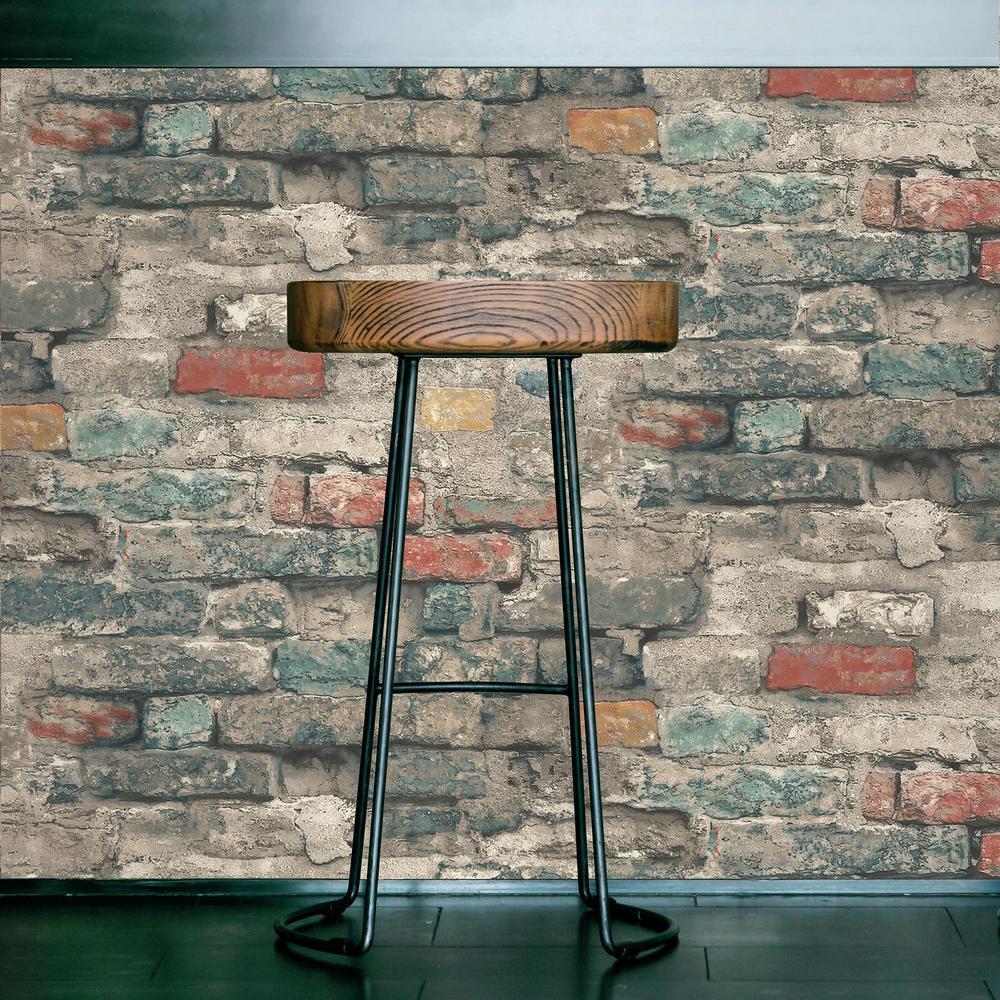BRICK ALLEY PEEL & STICK WALLPAPER |Peel And Stick Decals ...