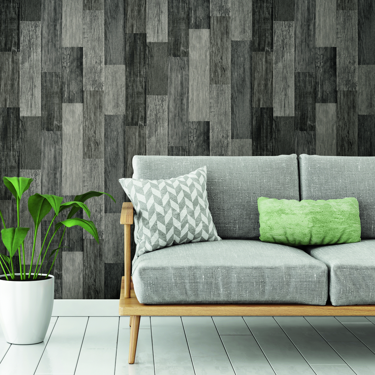 Weathered Wood Plank Black Peel Stick Wallpaper Peel And Stick Decals The Mural Store