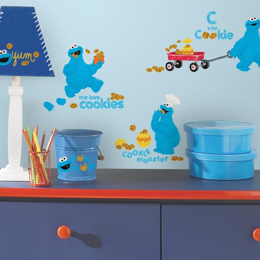 SESAME STREET - ME LOVE COOKIE MONSTER PEEL AND STICK WALL DECALS