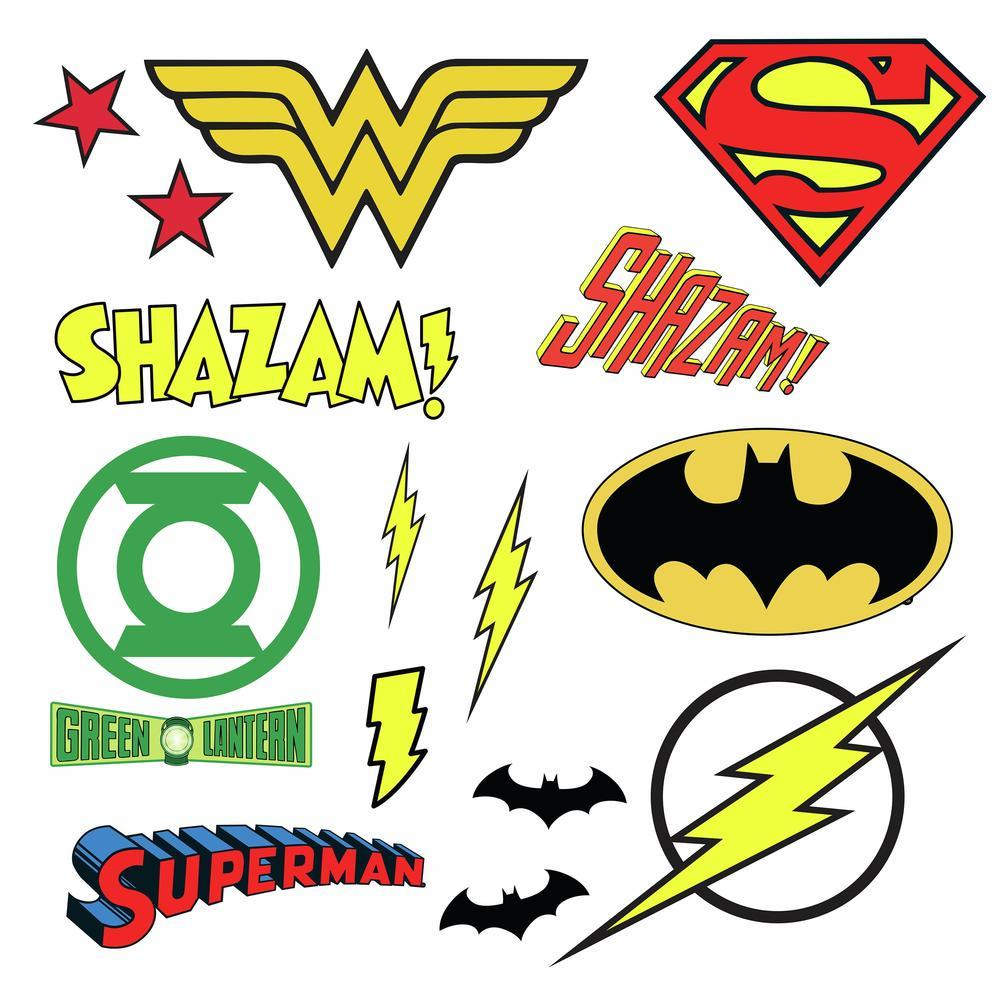 DC SUPERHERO LOGOS PEEL AND STICK WALL DECALS  Peel And ...
