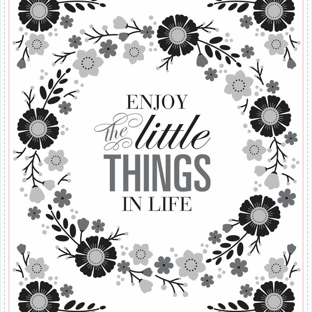 d63970077 FLORAL WREATH QUOTE W EMBELLISHMENTS PEEL AND STICK GIANT WALL DECALS