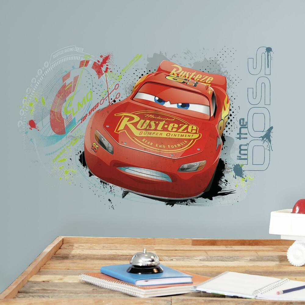 CARS 3 LIGHTNING MCQUEEN PEEL AND STICK WALL GRAPHIC