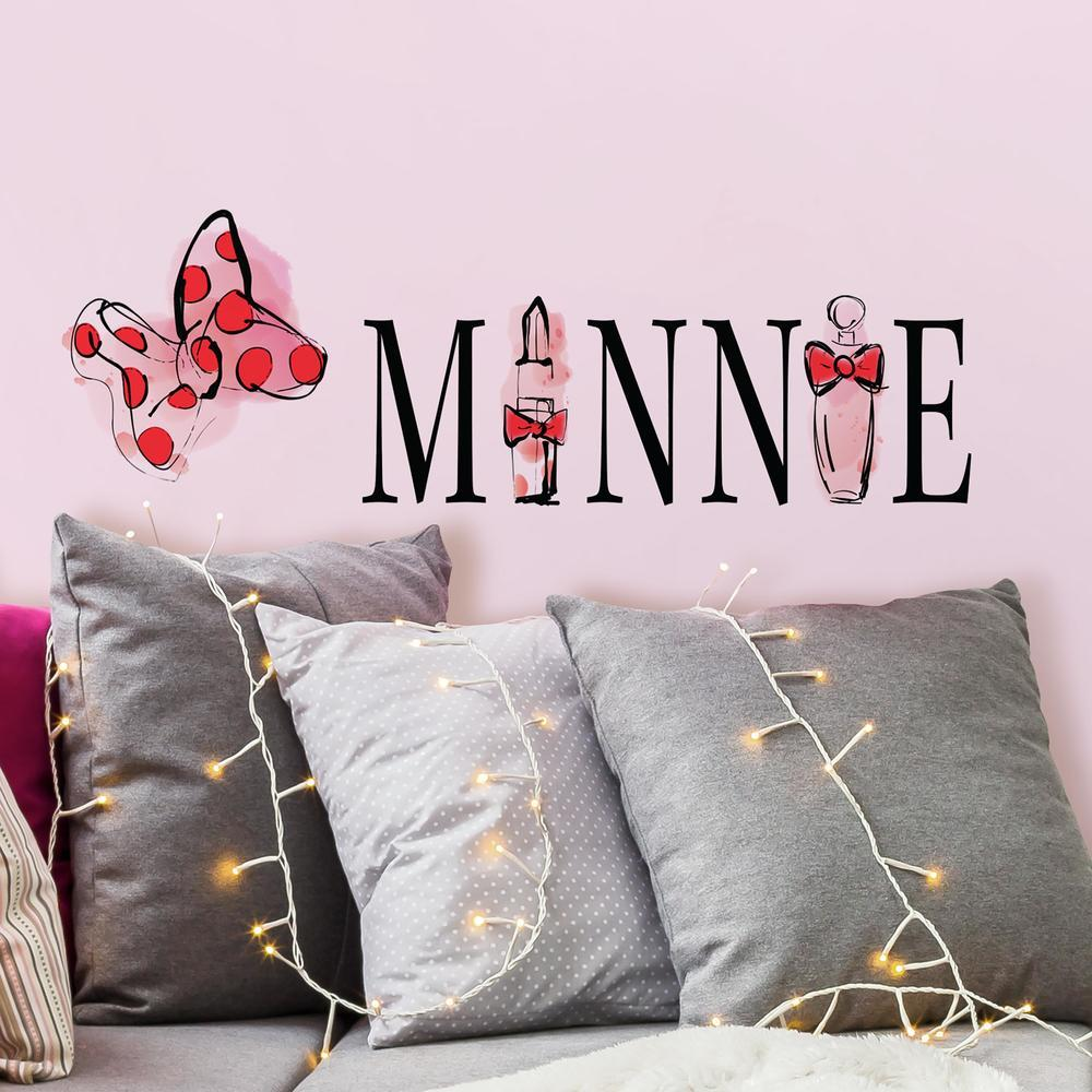 MINNIE MOUSE PERFUME PEEL AND STICK WALL DECALS