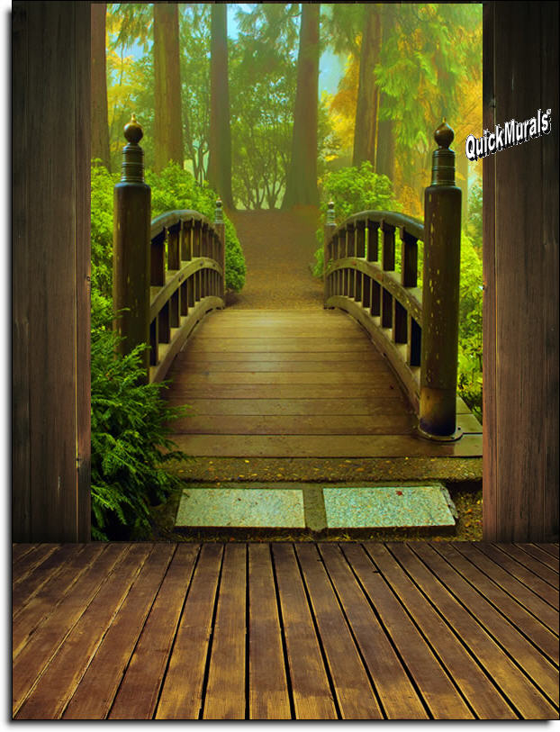 Enchanted Forest Wall Mural Mid Size Wall Murals The Mural Store