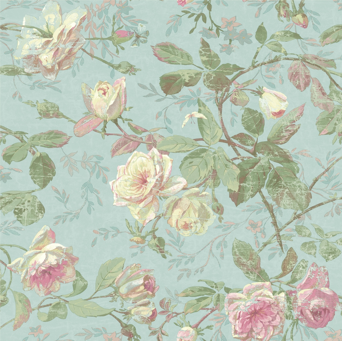 Vintage Floral Wallpaper Wallpaper And Borders The Mural Store