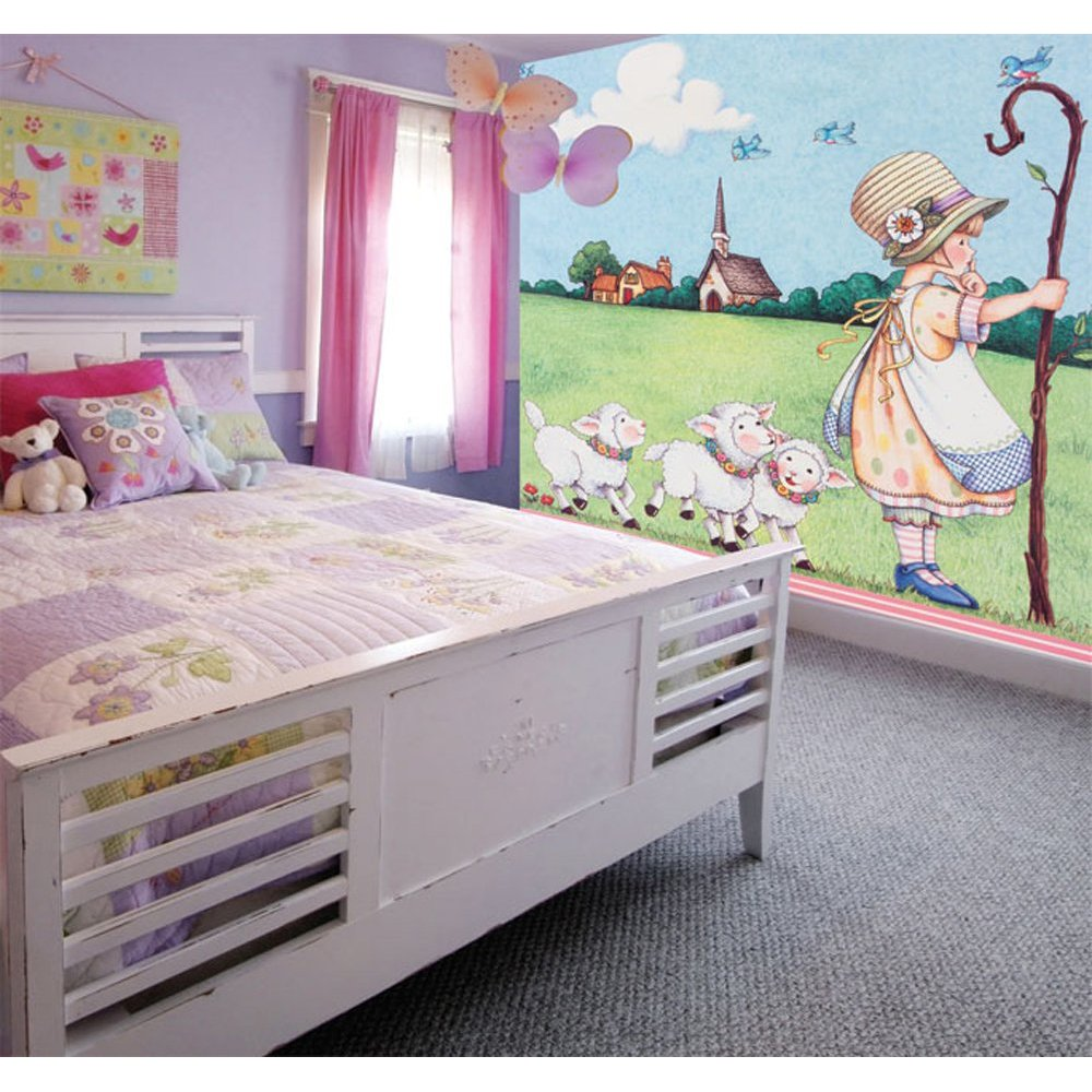 Little Girl Paste the Wall Mural