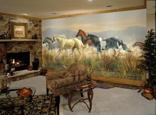 Wild Horses C838 wall mural