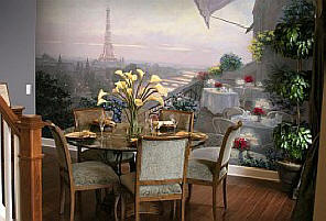 Dinner On The Terrace Wall Mural C867 by Environmental Graphics