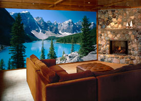 Mountain View Wall Mural C872 by Environmental Graphics