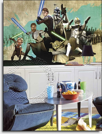 Star Wars� The Clone Wars Wall Mural by Roommates