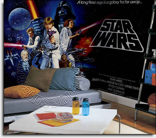 Star Wars Wall Mural By Roommates Full Size Large Wall Murals The Mural Store