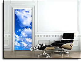 Blue Skies 1-piece Peel & Stick Door Mural
