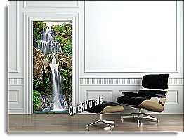 Chestnut Trail Waterfall Canvas Door Mural