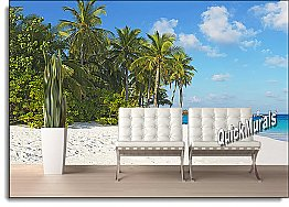 Island Vacation Peel & Stick Canvas Wall Mural by QuickMurals