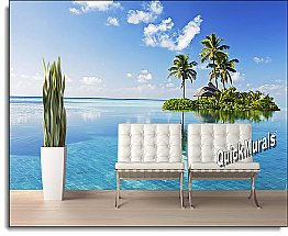 Paradise Island Peel & Stick Canvas Wall Mural by QuickMurals
