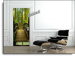 Hidden Forest Canvas Door Mural DT153