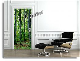Majestic Forest Canvas one-piece Door Mural DT151