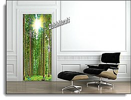 Sunlit Forest Canvas Door Mural DT154