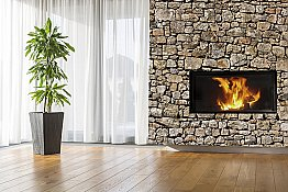 Old Stone Wall Peel & Stick Canvas Wall Mural