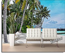 Tropical Island Resort Peel & Stick Canvas Wall Mural