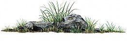 Rock Grass Peel & Stick Applique 180700
