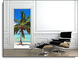 Palm Beach Door Mural