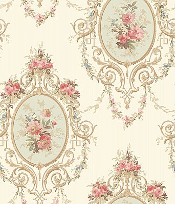 Neoclassic Cameo Wallpaper