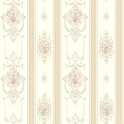 Delicate Rose Stripe Wallpaper