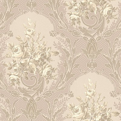 Architectural Floral Wallpaper