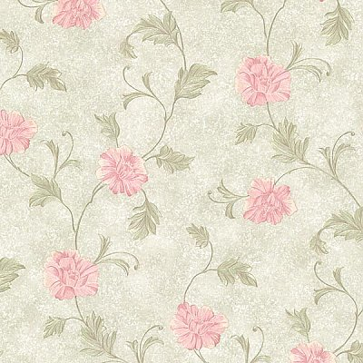 Louise Green Vintage Floral Trail Wallpaper