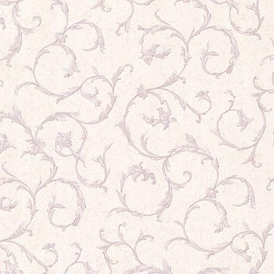 Clover Lavender Acanthus Scroll Wallpaper
