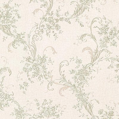 Eleanora Green Floral Trail Wallpaper