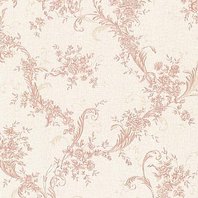Eleanora Pink Floral Trail Wallpaper