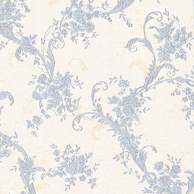 Eleanora Blue Floral Trail Wallpaper