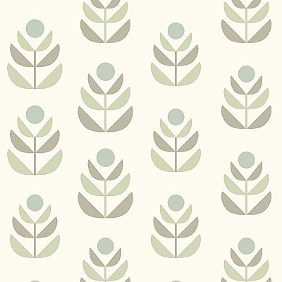 Oslo Grey Geometric Tulip Wallpaper