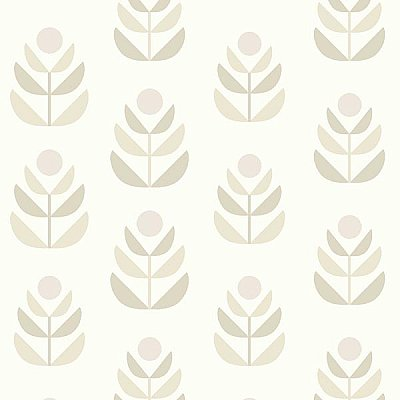 Oslo Beige Geometric Tulip Wallpaper